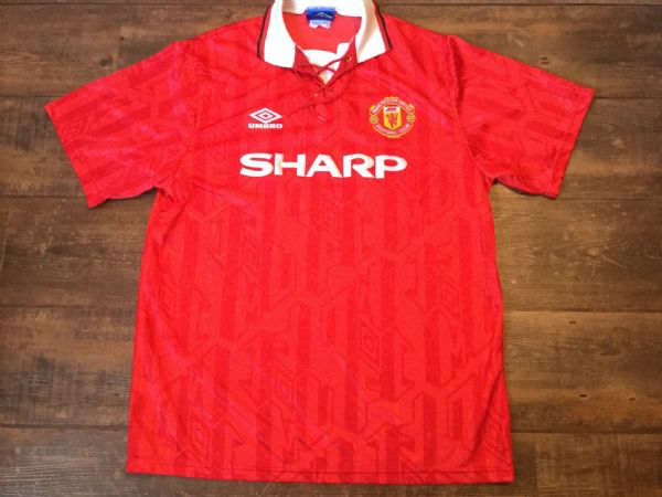 1993 1994 Manchester United Home Football Shirt Adults XL